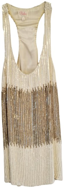 Preload https://img-static.tradesy.com/item/22781959/parker-white-and-gold-sequin-short-night-out-dress-size-4-s-0-2-650-650.jpg