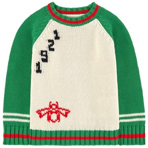 bfc7dec465cd Gucci Ivory Red Green New Kids Baby Long Sleeve Sweater Top 12-18 Months  Shirt