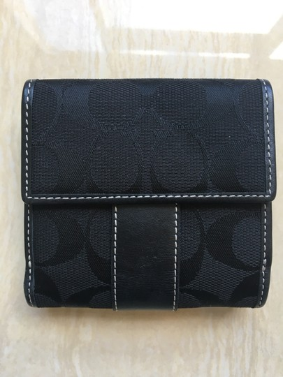 Coach Coach Compact Wallet in Black Image 1