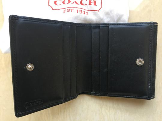 Coach Coach Compact Wallet in Black Image 2