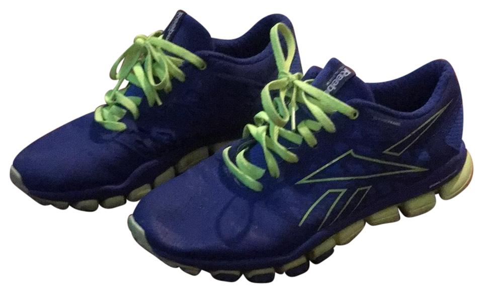 6c789d8bd22 Reebok Blue and Neon Green 3d Fuseframe Sneakers Size US 7.5 Regular ...