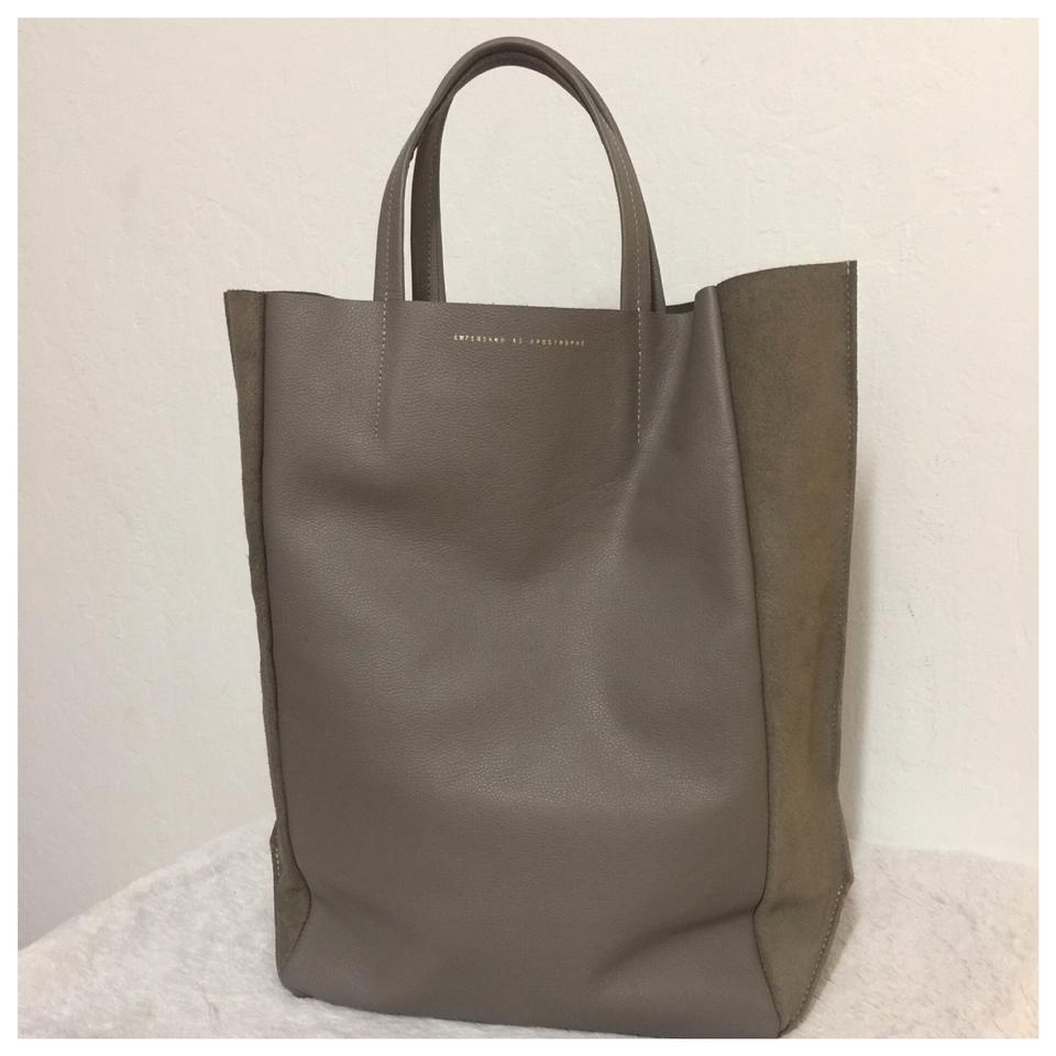 5ac079068858 Tall Wing Out Reversible Gay Leather   Suede Tote - Tradesy