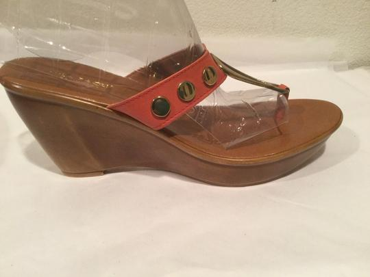 Mila Paoli Gold With Leather Brown Sandals