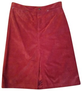 Gap Skirt Red suede leather
