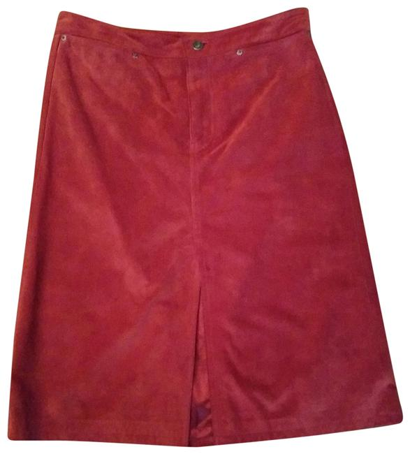 Preload https://img-static.tradesy.com/item/22782298/gap-red-suede-leather-skirt-size-8-m-29-30-0-1-650-650.jpg