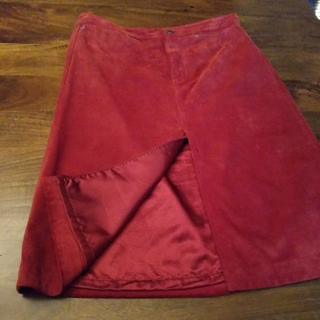 Gap Skirt Red suede leather Image 1