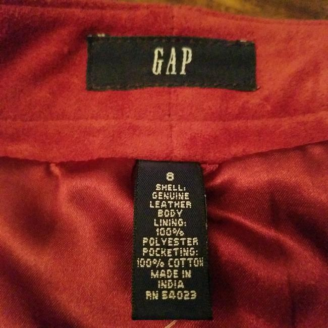 Gap Skirt Red suede leather Image 2