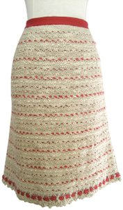 Chanel Boucle Skirt Buff, Red