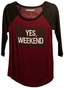 Maurices T Shirt Black, Red