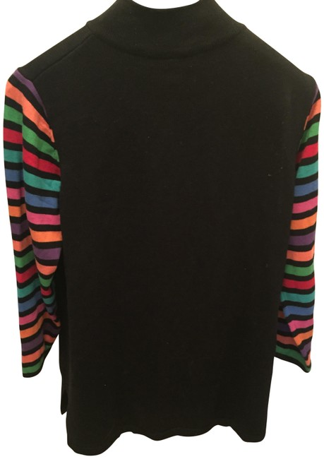 Preload https://img-static.tradesy.com/item/22782598/bob-mackie-wearable-art-blackw-colored-arms-and-buttons-sweater-0-1-650-650.jpg