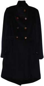 Eliza J Double Breasted Fit-and-flare Wool Blend Pea Coat
