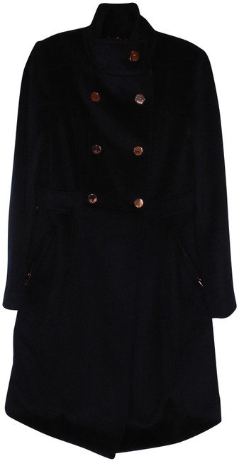 Preload https://img-static.tradesy.com/item/22782684/eliza-j-navy-wool-blend-chic-high-collar-double-breasted-fit-and-flar-pea-coat-size-4-s-0-1-650-650.jpg