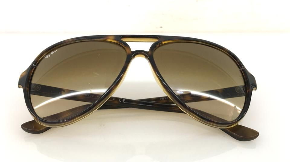 37873a7661f Ray-ban Unisex Rb 4125 Cats 5000 Pilot Sunglasses. Ray-Ban Brown Tortoise  Aviator Rb 4125 Cats 5000 710 51 ...
