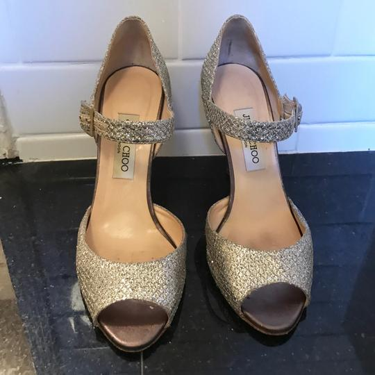 Jimmy Choo Champagne Silver Formal Image 3