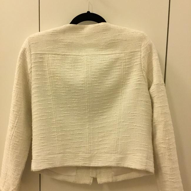 Alice + Olivia white and silver threading Blazer Image 2