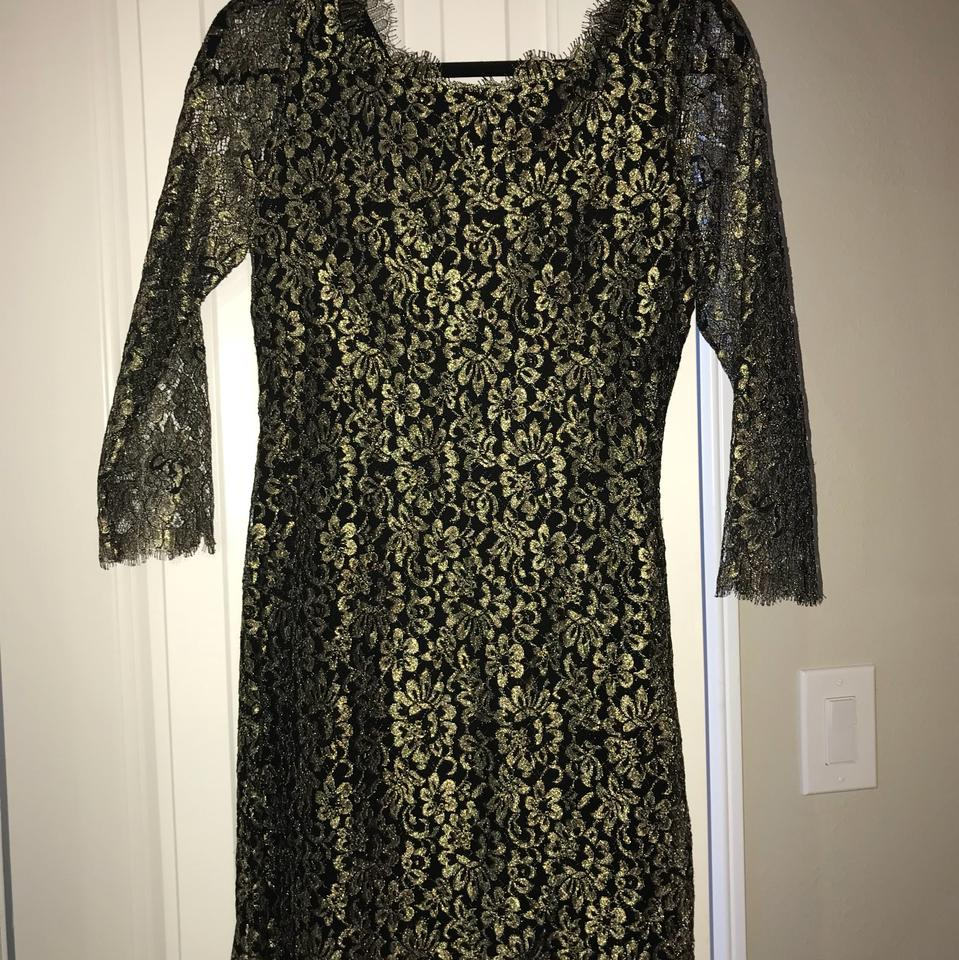 von Dress Black Diane 21501442 Gold Cocktail Furstenberg and 01qdEwxUd