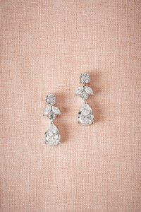 BHLDN Crystal and Silver New Petite Drop Earrings
