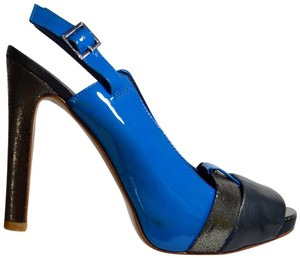 Tory Burch Colorblock Blue Platforms