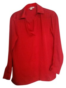 Michael by Michael Kors Button Down Shirt Red