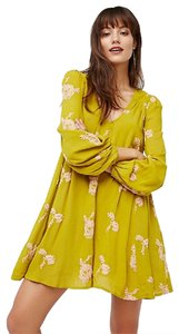 Free People short dress Color: Chartreuse combo Austin Elixir Of Long Life on Tradesy