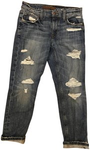 JOE'S Jeans Distressed Wash Crop Leg Mid Rise Relaxed Fit Jeans-Distressed