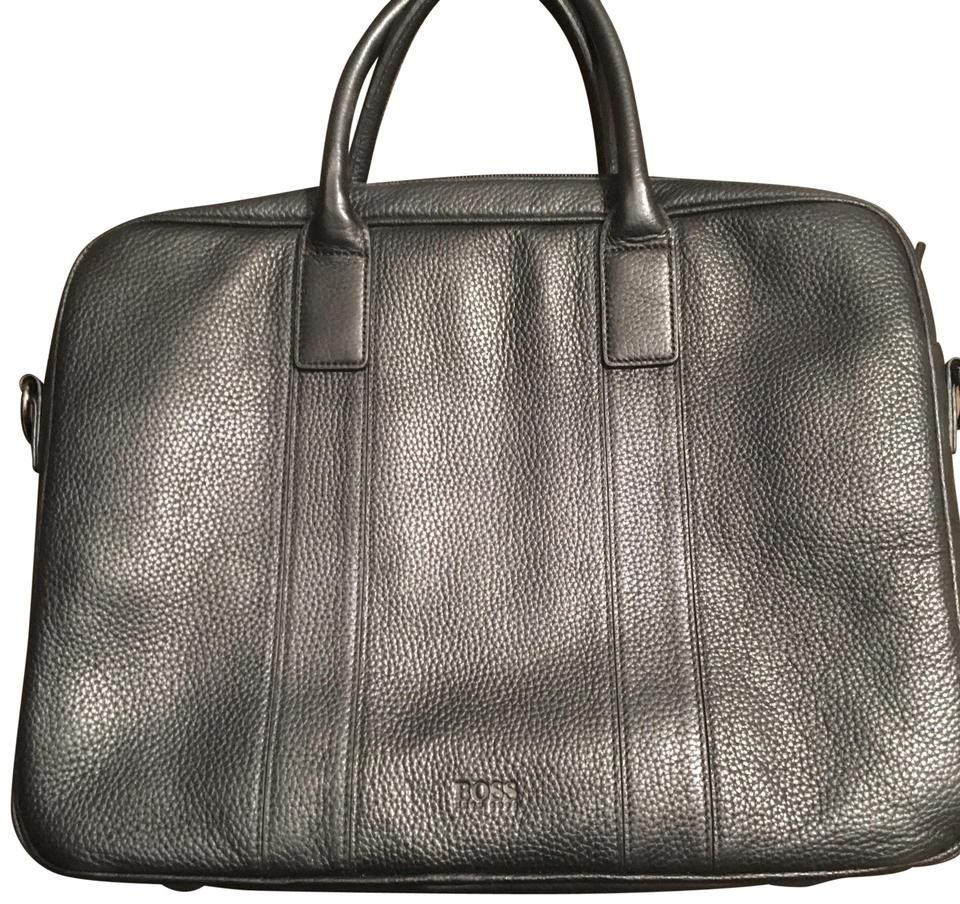 Hugo Boss Briefcase Black Leather Laptop Bag - Tradesy d2f9030ad2375