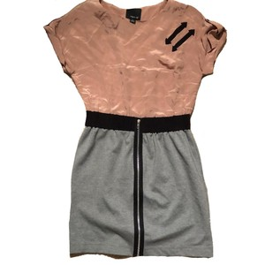 Aryn K short dress pink on top, grey on the bottom on Tradesy