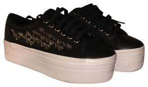 Jeffrey Campbell black with white sole Platforms