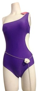 Other Vibrant purple cut out Monokini swimsuit