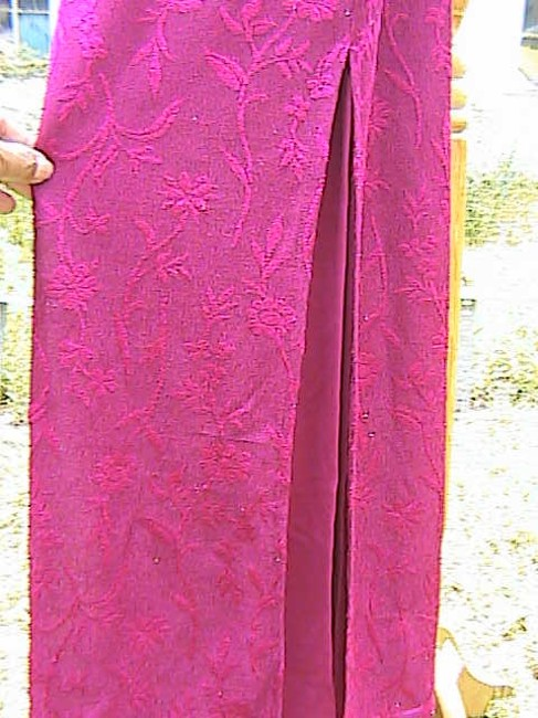 Maroon Maxi Dress by Younique Clothing Spaghetti Long Lace