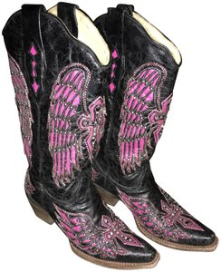 Corral Boots Black & hot pink Boots