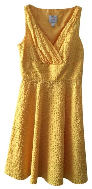 Preload https://item5.tradesy.com/images/suzi-chin-for-maggy-boutique-waffled-cotton-lined-dress-yellow-2278434-0-0.jpg?width=400&height=650