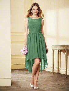 Alfred Angelo Clover / Shade Of Green Chiffon 7298s Formal Bridesmaid/Mob Dress Size 4 (S)