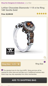 Levian ring with chocolate diamonds