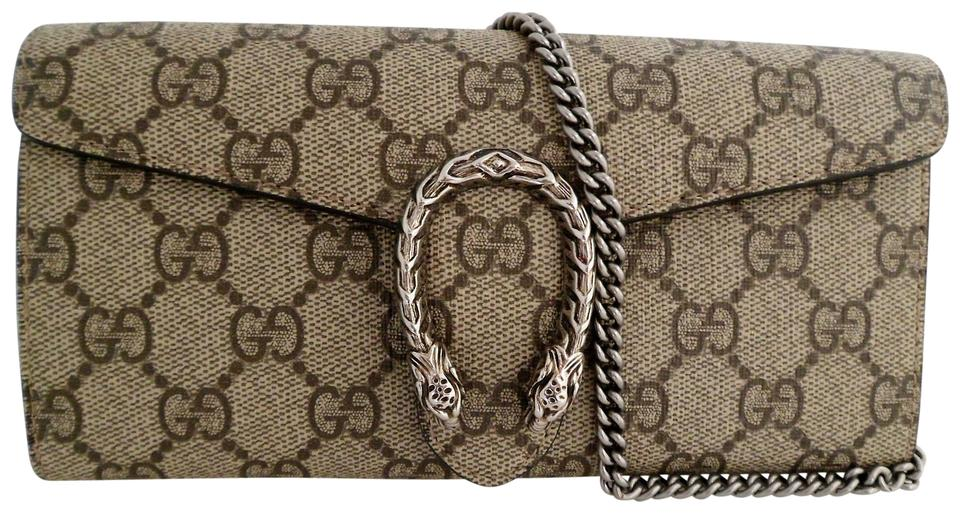 8a2fbaef969 Gucci Dionysus Wallet W  Chain Beige Gg Supreme Coated Canvas ...