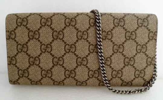 26766739117a Gucci Dionysus Wallet W/ Chain Beige Gg Supreme Coated Canvas Shoulder Bag  - Tradesy