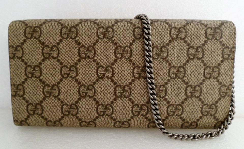 95013791ca2 Gucci Dionysus Wallet W  Chain Beige Gg Supreme Coated Canvas ...