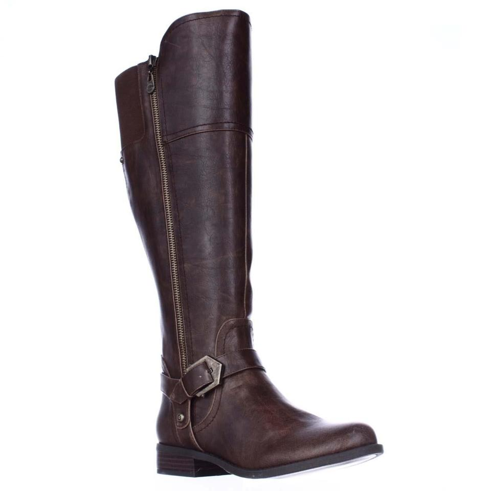 Women's Guess Dark sale Brown Riding Boots/Booties Hot sale Dark b2dad9