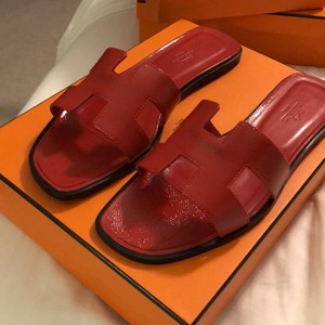 Herms red Sandals