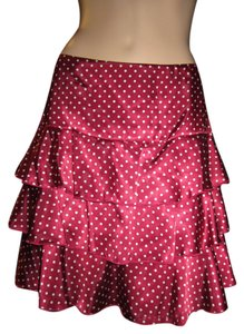 Alannah Hill Unique Soft And Silky Sexy Skirt Burgandy