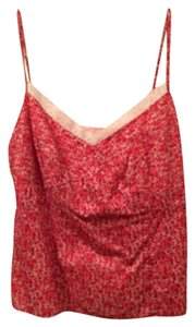 Ann Taylor Top red and white with lace
