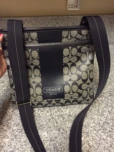 Coach Black and Grey Messenger Bag
