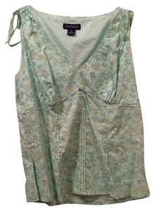 Ann Taylor Top soft green floral