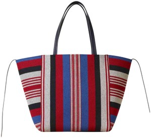 Céline Tote in blue, red, white and black