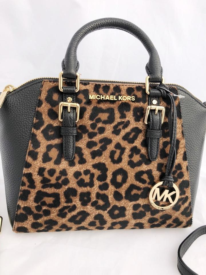 cdbab4dae7ed Michael Kors Ciara Medium Messenger Crossbody Leopard Haircalf ...