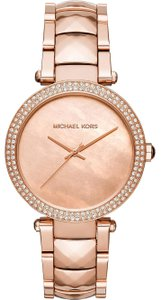 Michael Kors (RoseGold) Parker Stainless Steel Bracelet Watch
