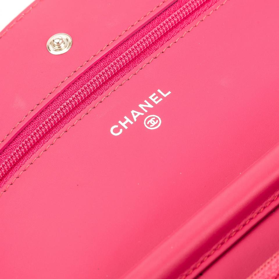 02efd6371d0267 Chanel Wallet on Chain Quilted Brilliant Woc Pink Patent Leather ...