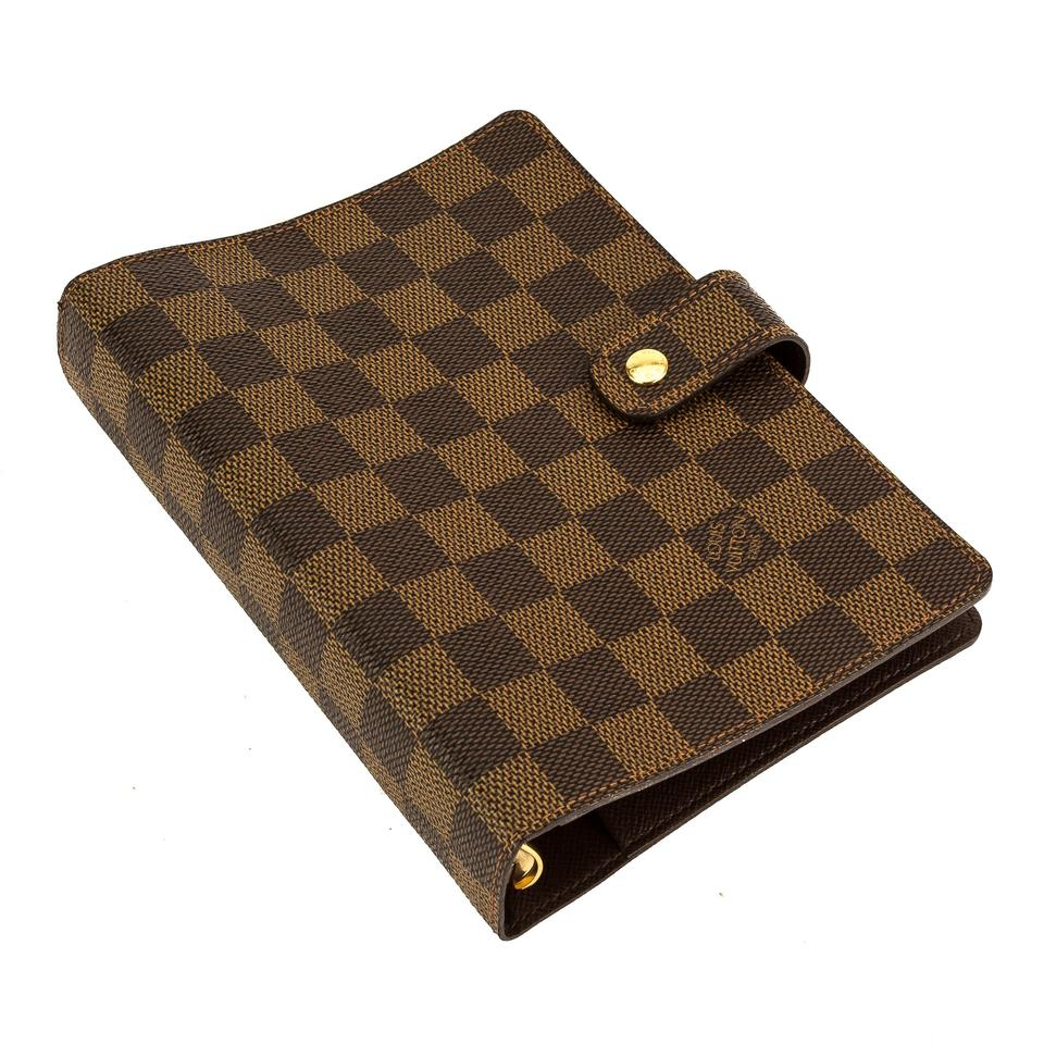 7aea92cf67e4 Louis Vuitton Brown Damier Ebene Canvas Agenda Mm Cover .