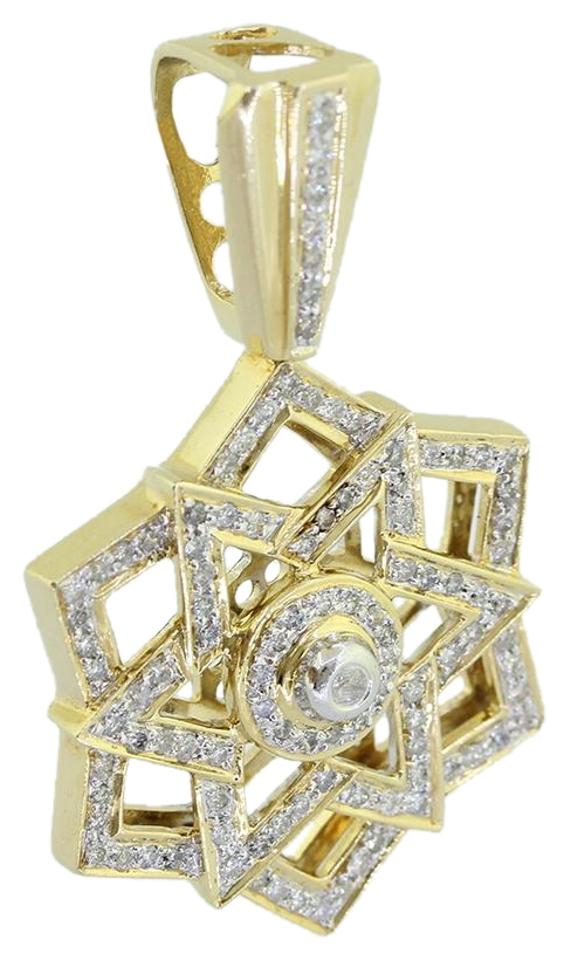 Yellow gold 14k custom made star of david 10 ct diamond pendant ali1 14k solid yellow gold custom made star of david 10 ct diamond pendant aloadofball Choice Image