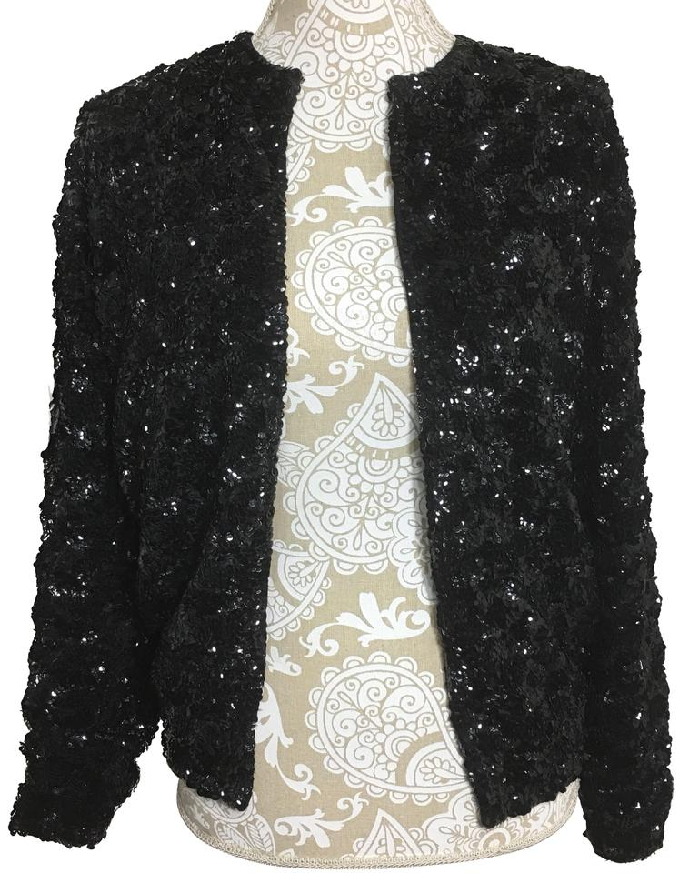 a3594c74 Black Sequined Jacket Size 8 (M) - Tradesy